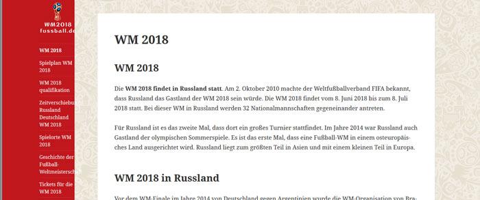 Fussball Weltmeisterschaft 2018